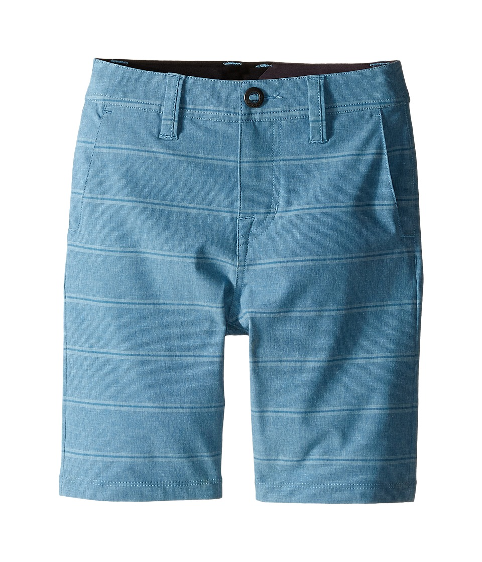 Volcom Kids - SNT Mix Hybrid Shorts (Big Kids) (Vintage Blue) Boy's Shorts