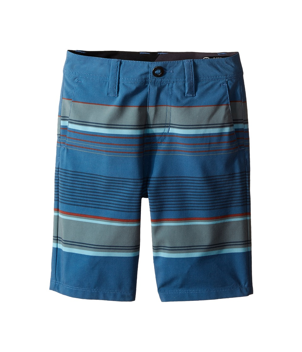 Volcom Kids - SNT Mix Hybrid Shorts (Big Kids) (Smokey Blue) Boy's Shorts
