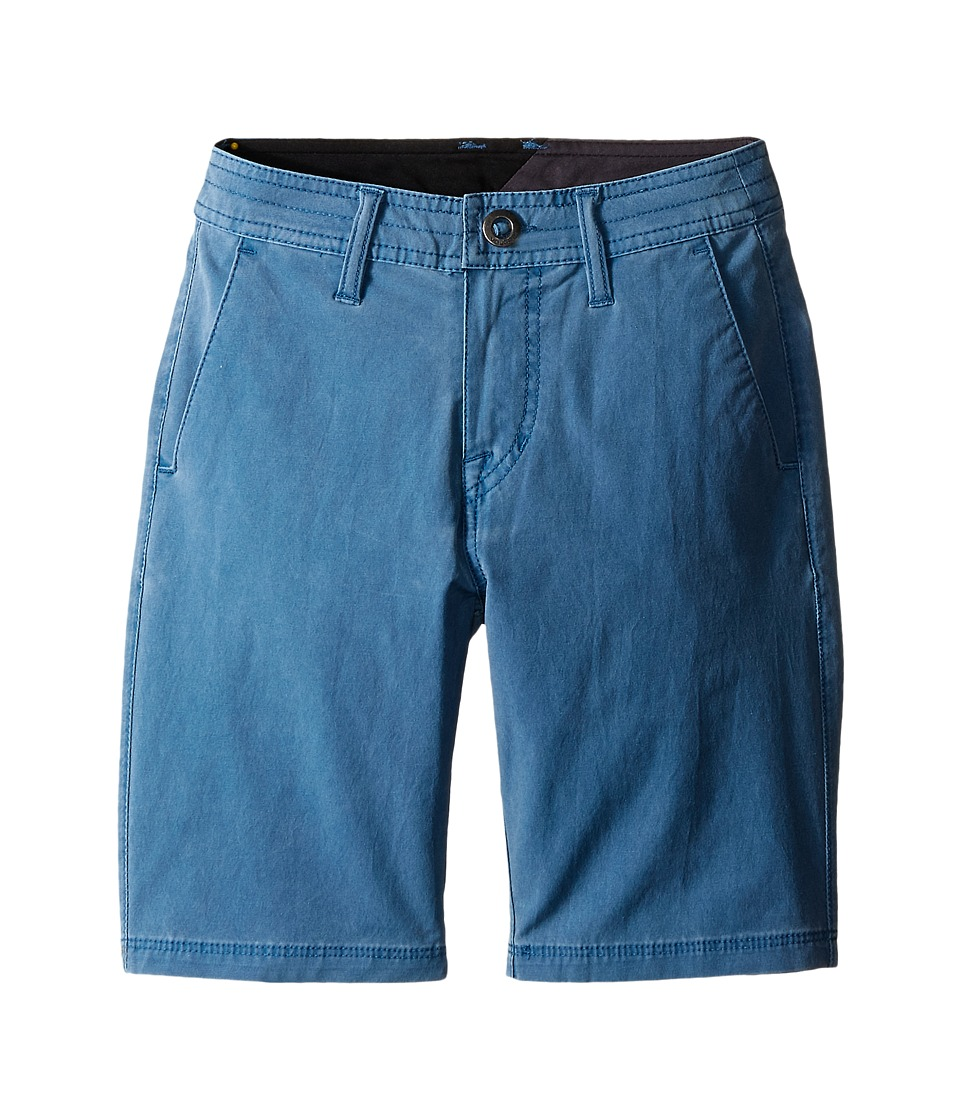 Volcom Kids - SNT Faded Shorts (Big Kids) (Sun Faded Indigo) Boy's Shorts