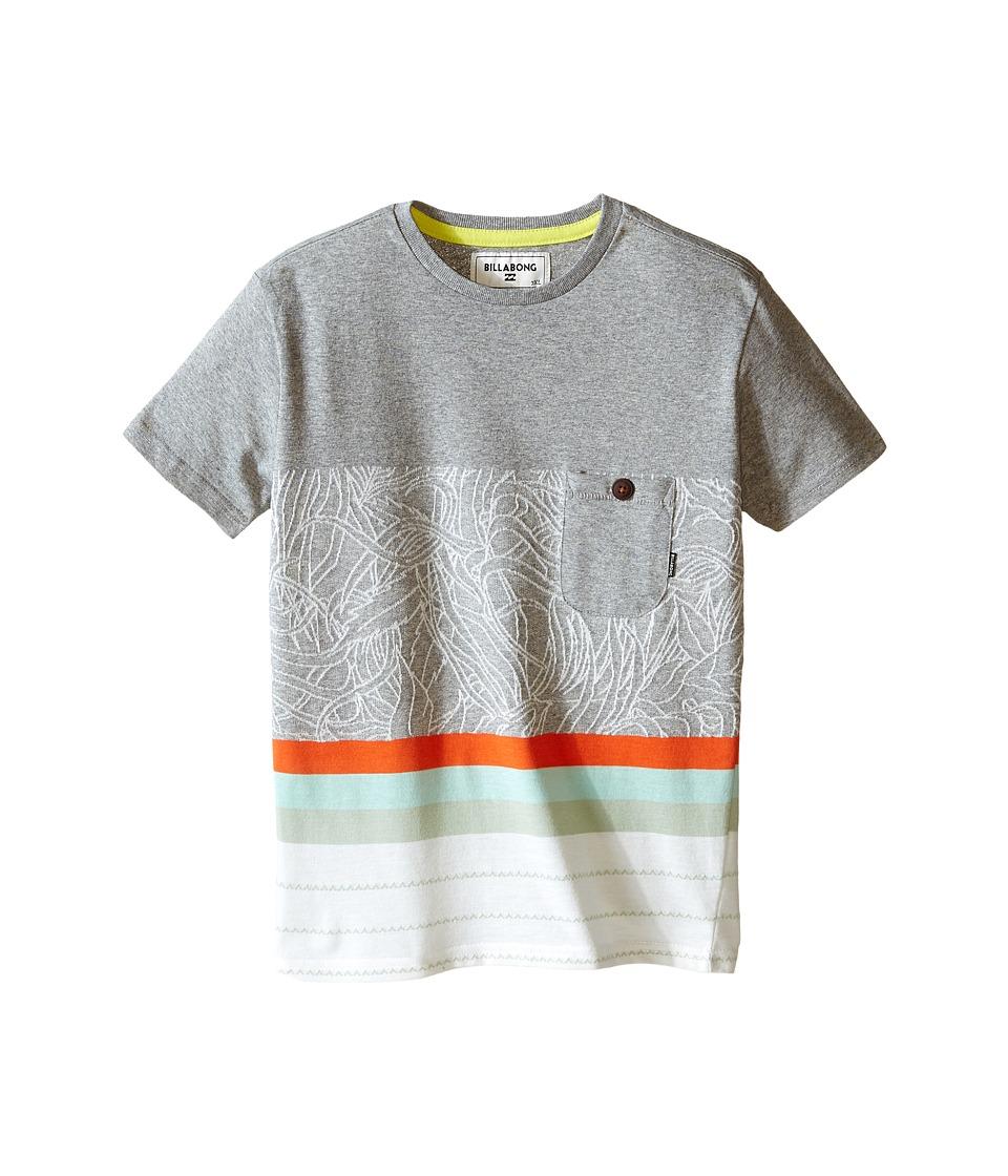 Billabong Kids Spinner Short Sleeve Crew (Toddler/Little Kids) (Grey Heather) Boy