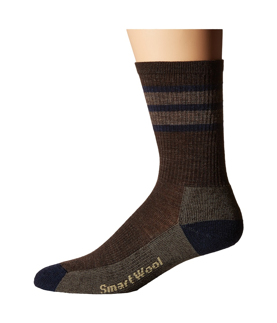 Smartwool - Striped Hike Light Crew (Chestnut) Men's Crew Cut Socks Shoes