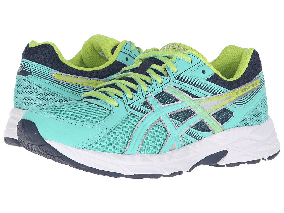 ASICS - GEL-Contend 3 (Cockatoo/Neon Lime/Dark Navy) Women's Running Shoes