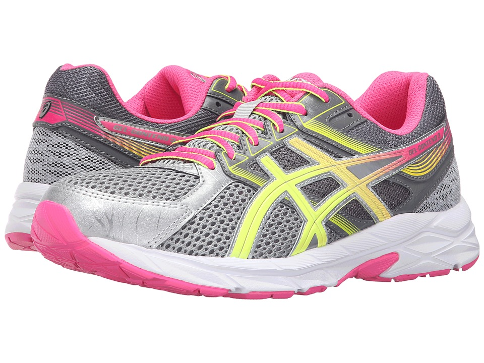 ASICS - GEL-Contend 3 (Steel Grey/Safety Yellow/Hot Pink) Women's Running Shoes
