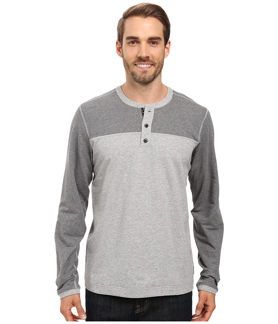 Mountain Hardwear - Cragger Henley (Heather Steam) Men's Long Sleeve Pullover