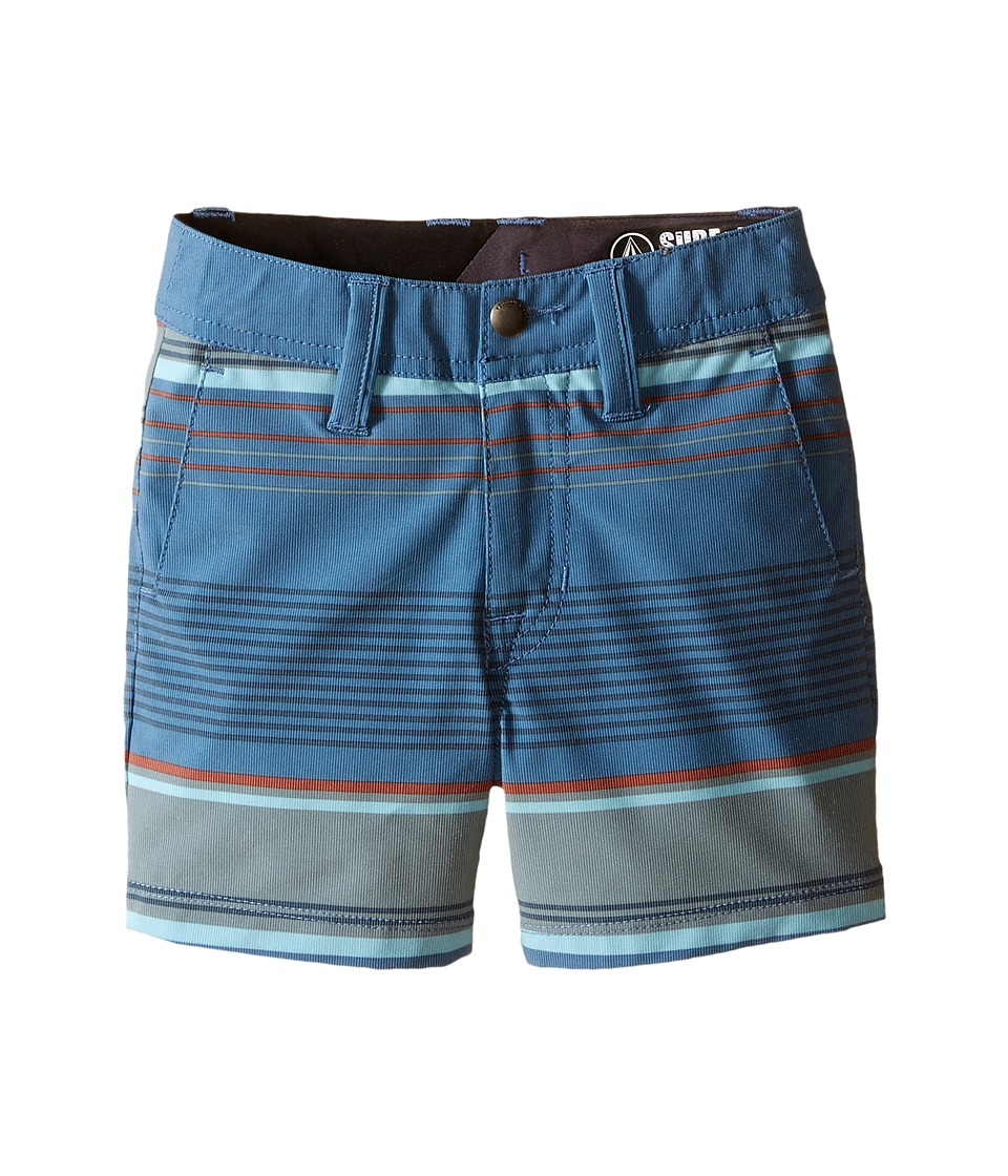 Volcom Kids - SNT Mix Hybrid Shorts (Toddler/Little Kids) (Smokey Blue) Boy's Shorts