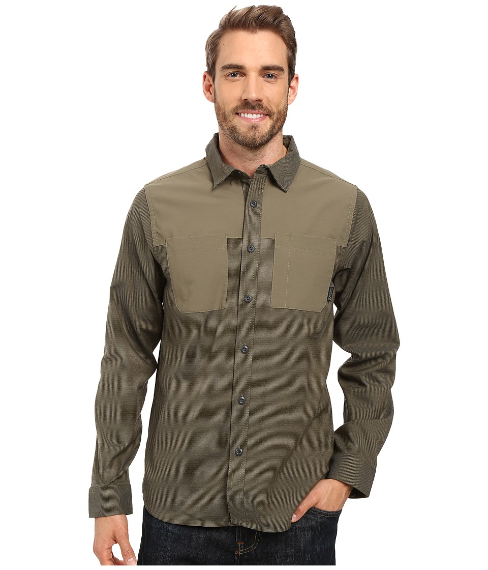 Mountain Hardwear - Stretchstone Utility Long Sleeve Shirt (Stone Green) Men's Long Sleeve Button Up