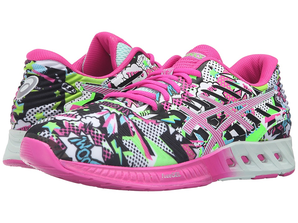 ASICS - FuzeX (White/Pink Glow/Soothing Sea) Women's Running Shoes