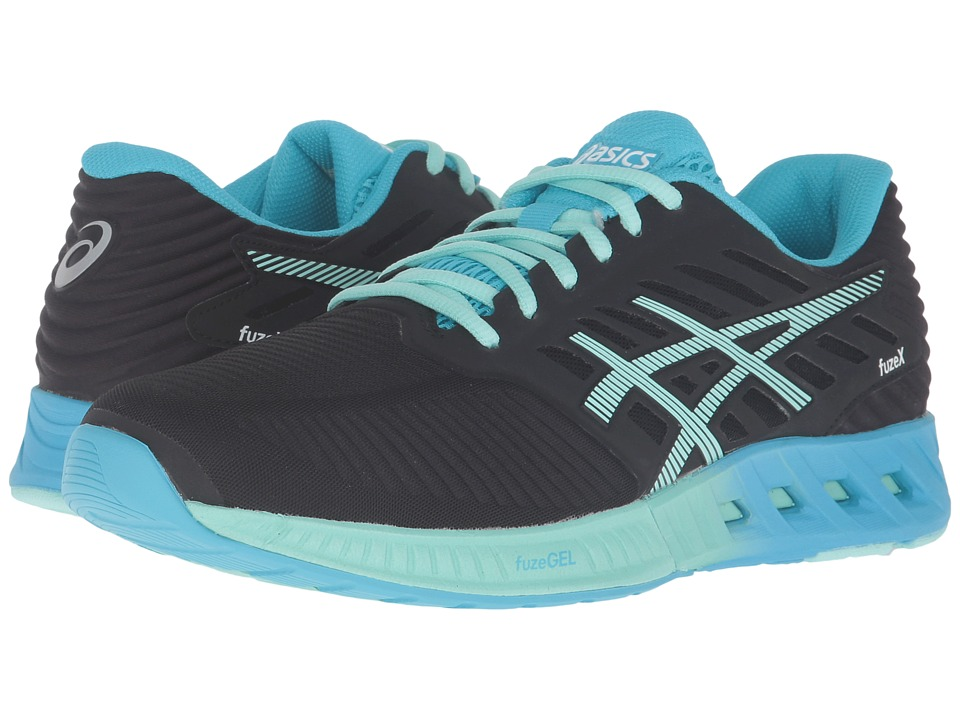ASICS - FuzeX (Black/Mint/Aquarium) Women's Running Shoes