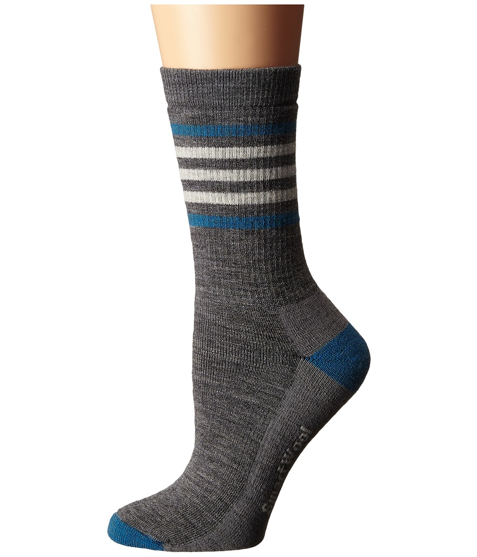 Smartwool - Striped Hike Medium Crew (Medium Grey) Women's Crew Cut Socks Shoes