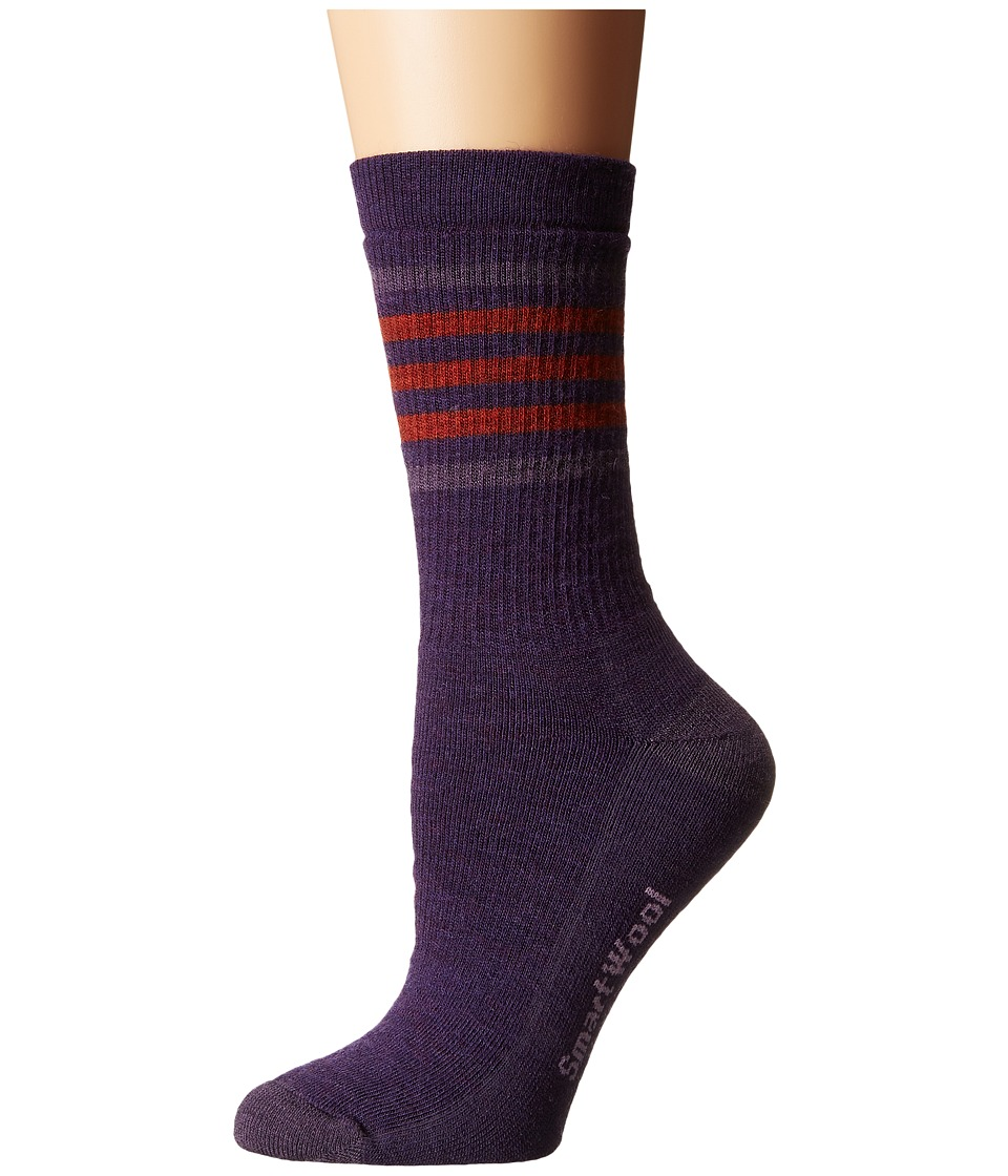 Smartwool - Striped Hike Medium Crew (Mountain Purple) Women's Crew Cut Socks Shoes
