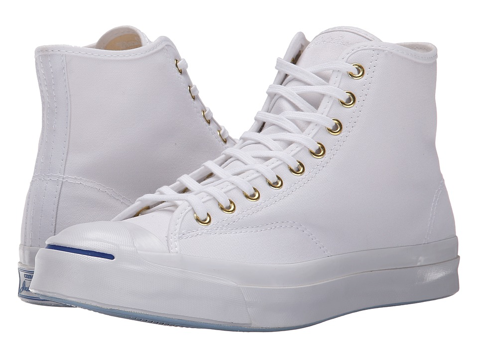 Converse - Jack Purcell Signature Duck Canvas Hi (White) Shoes