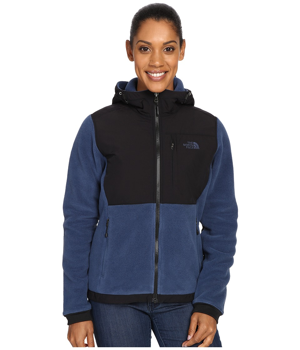 The North Face - Denali 2 Hoodie (Shady Blue/TNF Black) Women's Sweatshirt
