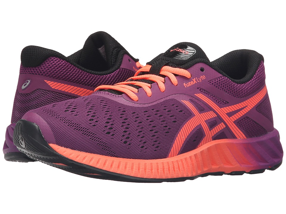 ASICS - FuzeX Lyte (Phlox/Flash Coral/Black) Women's Running Shoes