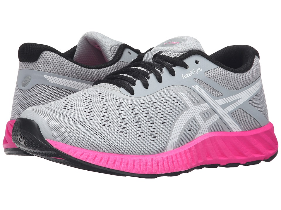 ASICS - FuzeX Lyte (Midgrey/White/Pink Glow) Women's Running Shoes