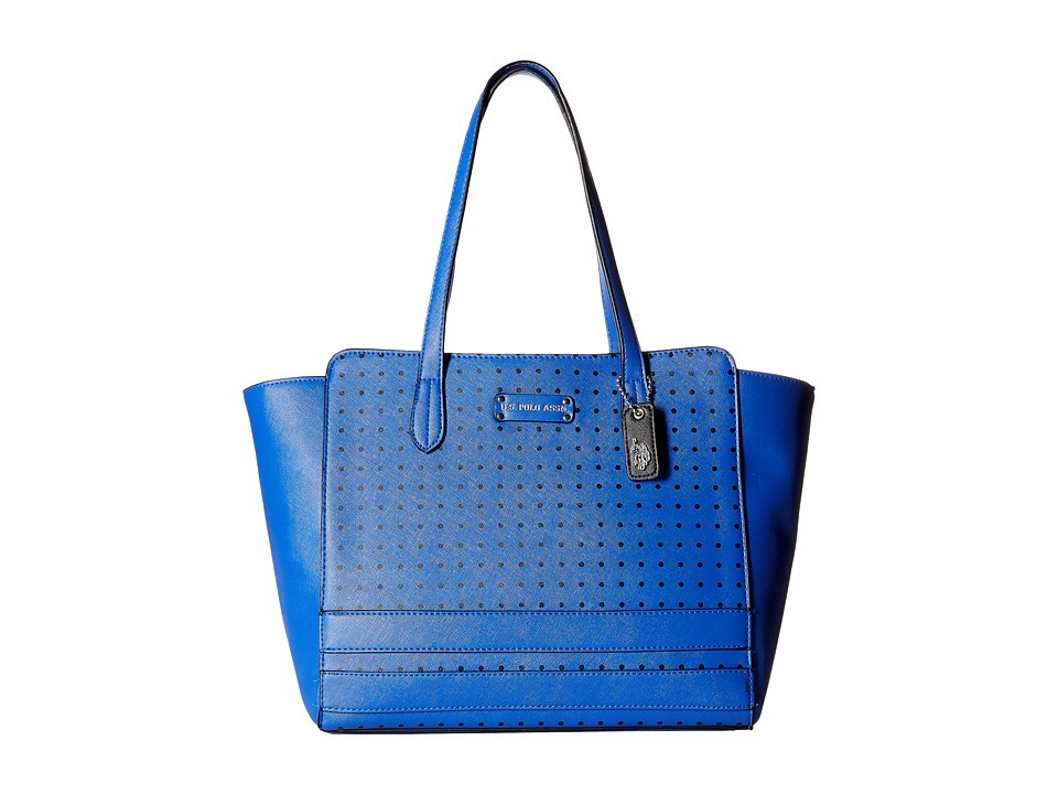 U.S. POLO ASSN. - Christy Dots Tote (Royal Blue) Tote Handbags
