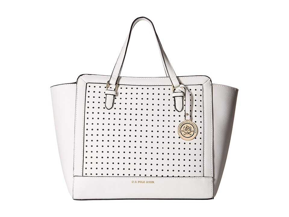 U.S. POLO ASSN. - Perf Dot East/West Tote (Natural) Tote Handbags