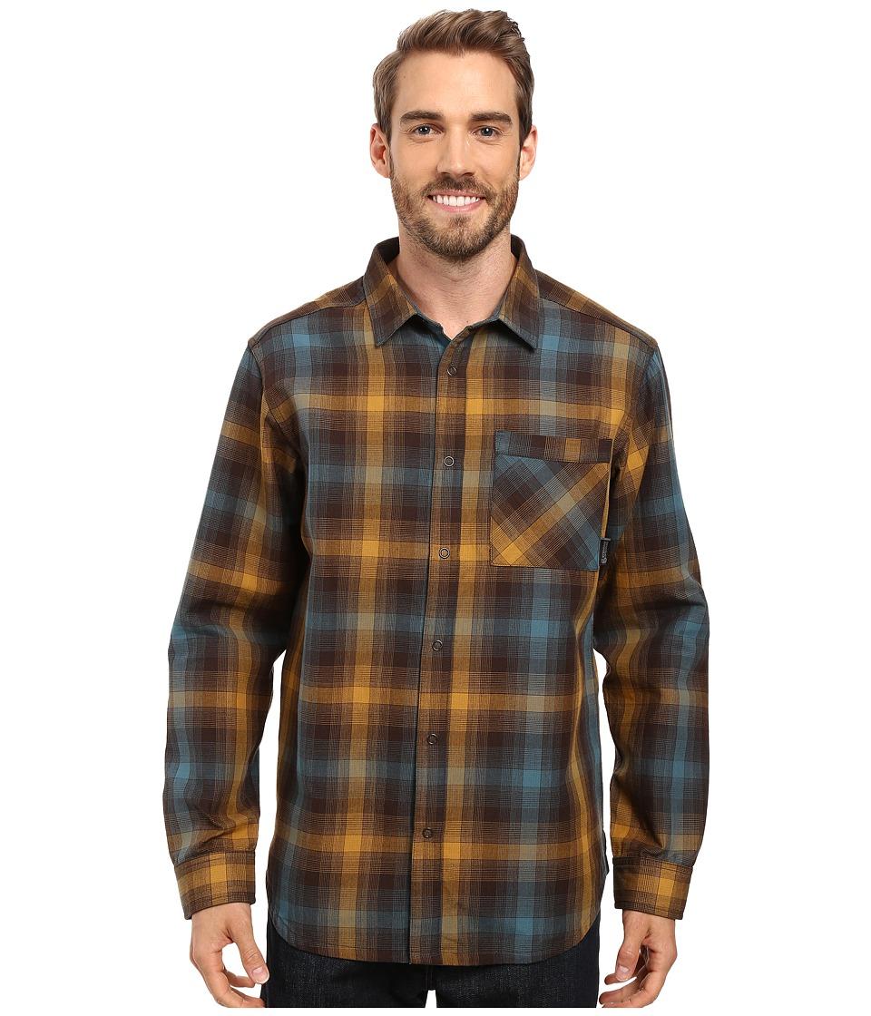 Mountain Hardwear - Reversible Plaid Long Sleeve Shirt (Golden Brown) Men's Long Sleeve Button Up