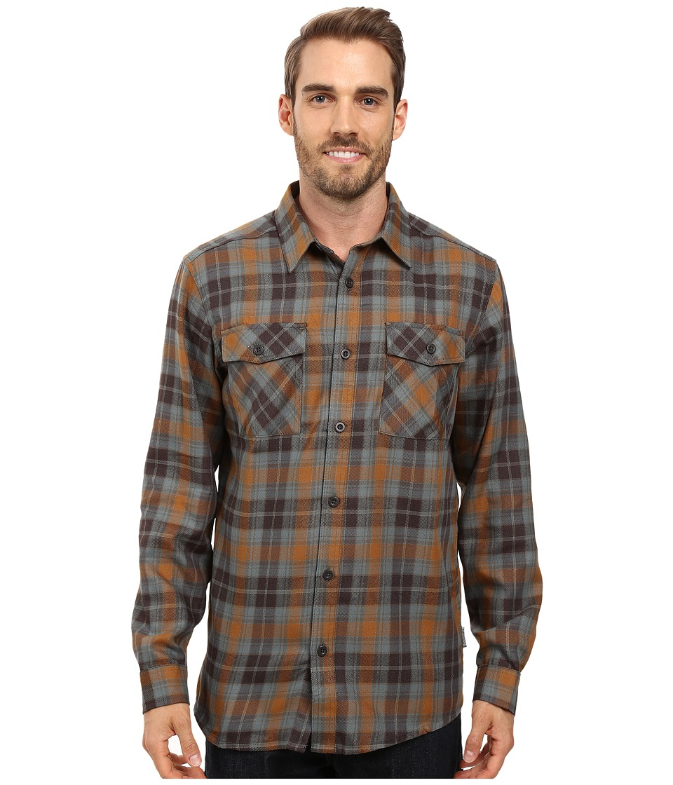Mountain Hardwear - Trekkin Flannel Long Sleeve Shirt (Golden Brown) Men's Long Sleeve Button Up