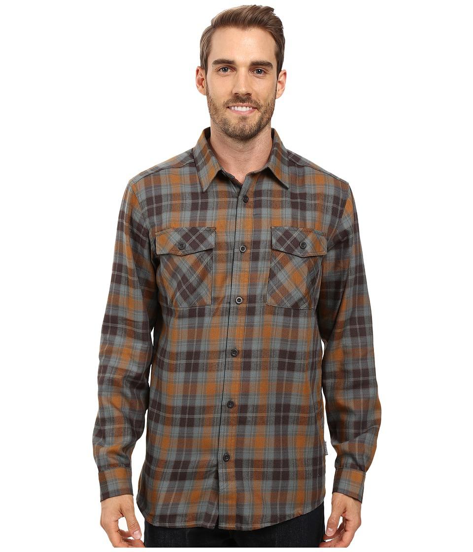 Mountain Hardwear - Trekkin Flannel Long Sleeve Shirt (Golden Brown) Men's Long Sleeve Button Up