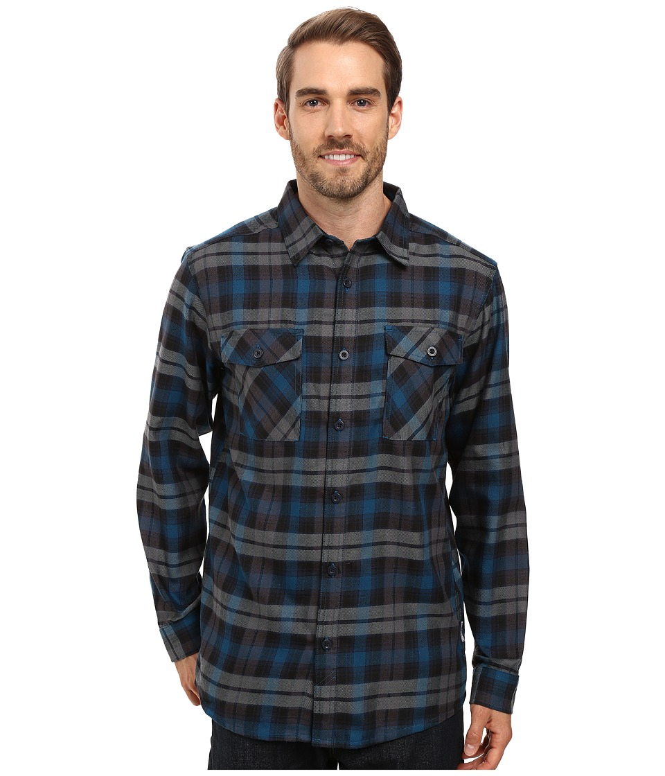 Mountain Hardwear - Trekkin Flannel Long Sleeve Shirt (Phoenix Blue) Men's Long Sleeve Button Up