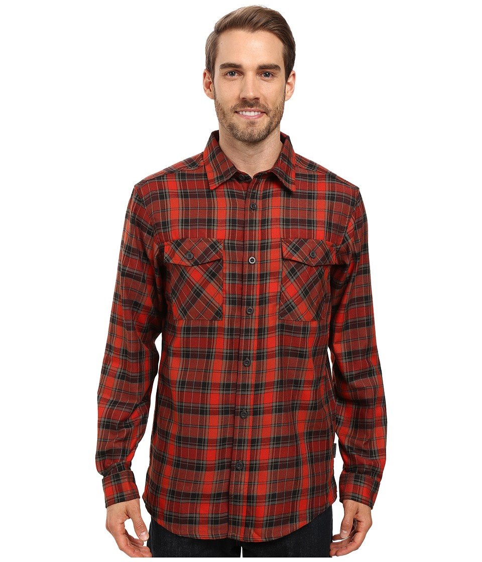 Mountain Hardwear - Trekkin Flannel Long Sleeve Shirt (Fiery Red) Men's Long Sleeve Button Up