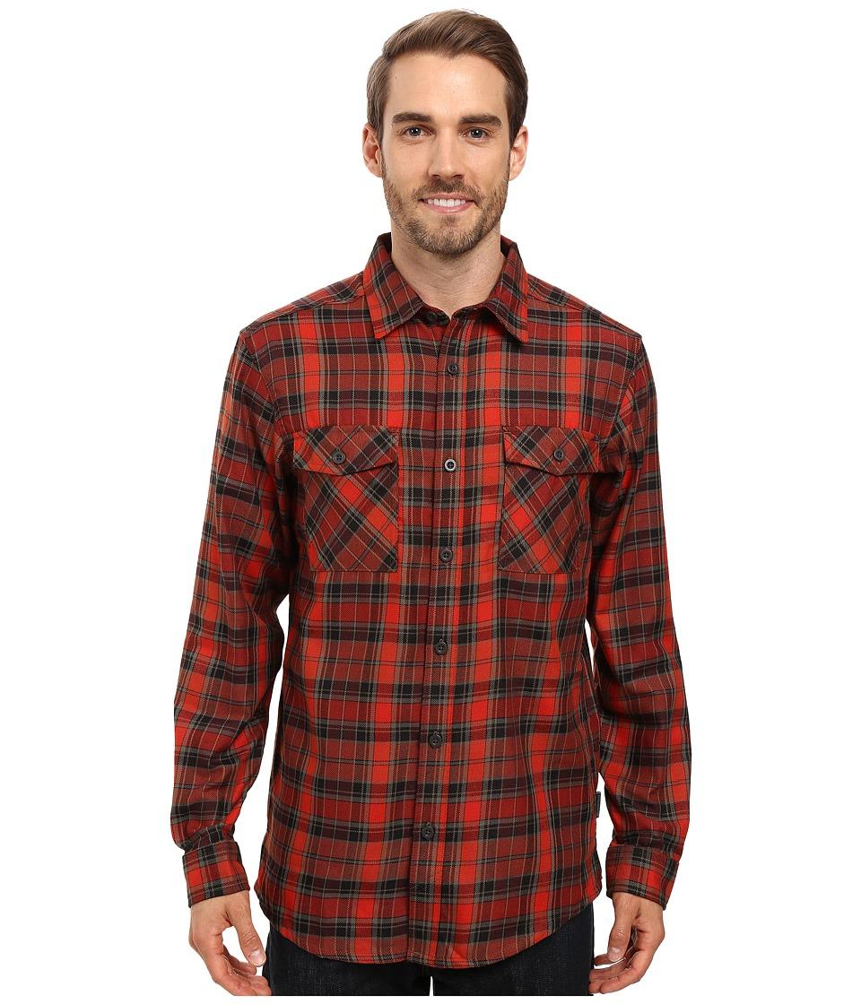 Mountain Hardwear - Trekkin Flannel Long Sleeve Shirt (Fiery Red) Men's Long Sleeve Button Up