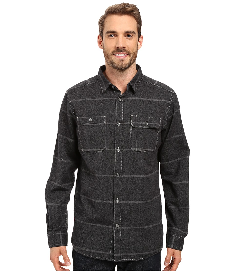 Mountain Hardwear - Frequenter Stripe Long Sleeve Shirt (Black) Men's Long Sleeve Button Up