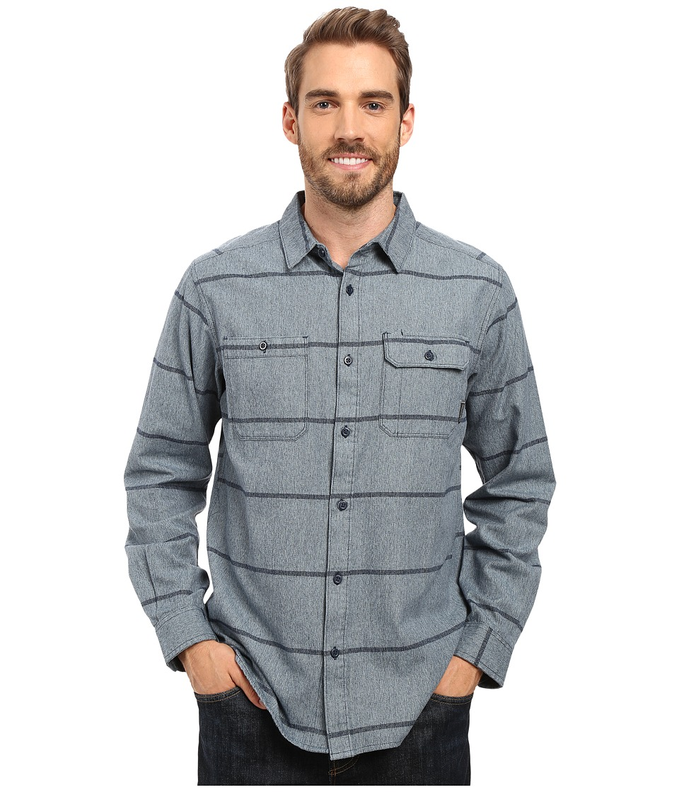 Mountain Hardwear - Frequenter Stripe Long Sleeve Shirt (Hardwear Navy) Men's Long Sleeve Button Up