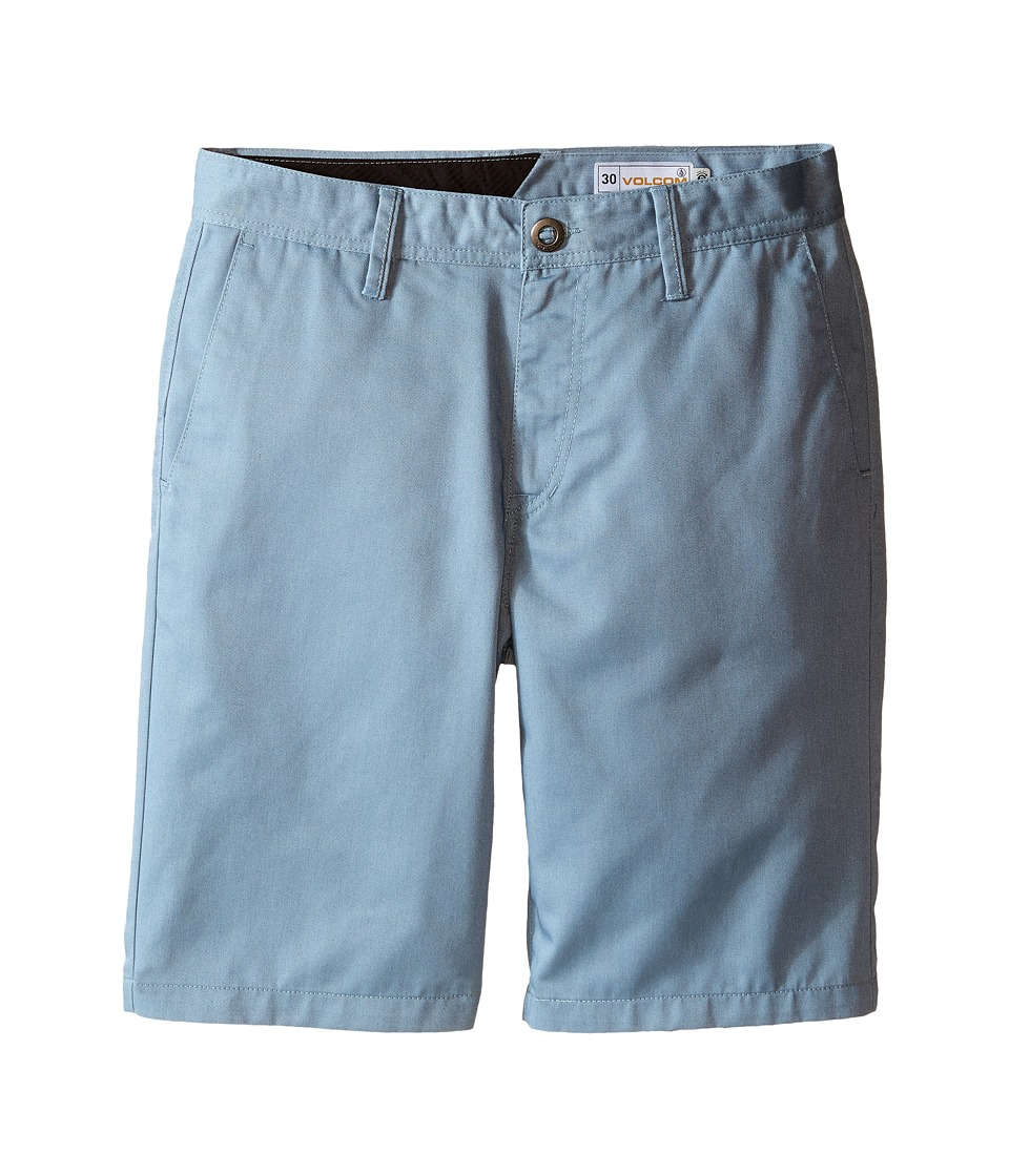 Volcom Kids - Frickin Chino Shorts (Big Kids) (Vintage Blue) Boy's Shorts