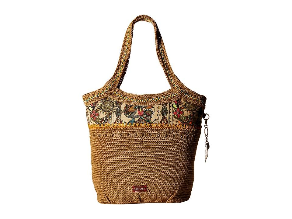 Sakroots - Artist Circle Crochet Large Tote (Camel Spirit Desert) Tote Handbags
