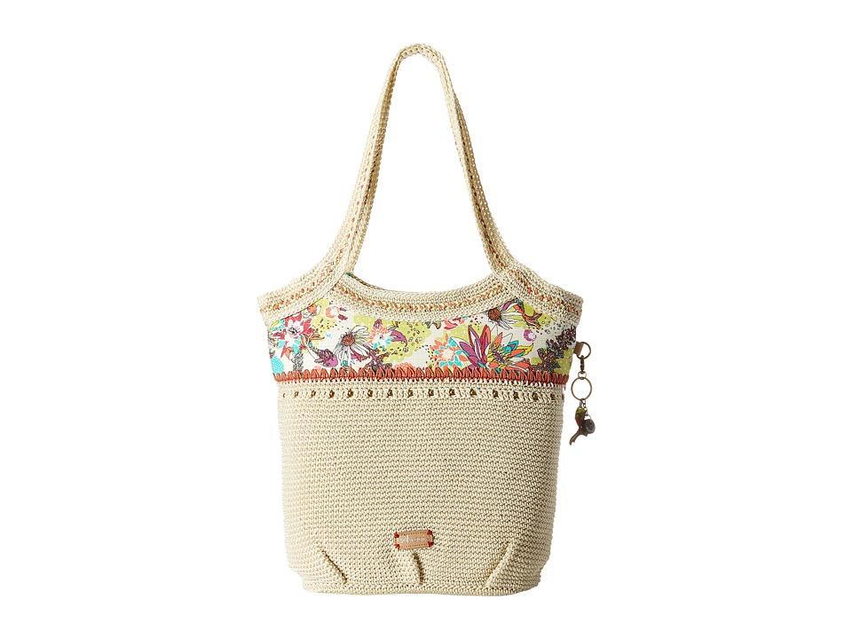 Sakroots - Artist Circle Crochet Large Tote (Citrus Xen Garden) Tote Handbags