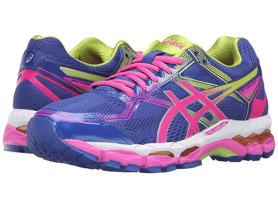 ASICS - Gel-Surveyor(r) 5 (Asics Blue/Pink Glow/Neon Lime) Women's Running Shoes