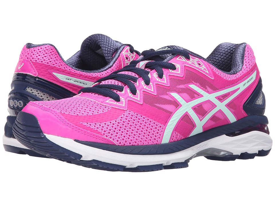 ASICS - GT-2000 4 (Pink Glow/Soothing Sea/Indigo Blue) Women's Running Shoes