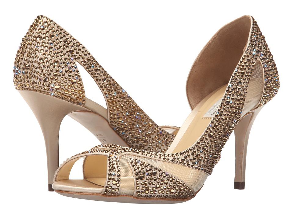 Benjamin Adams London - Catherine (Taupe Duchesse Silk) Women's Shoes
