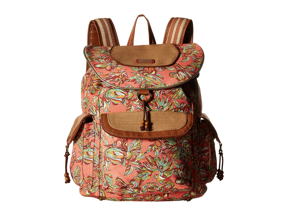 Sakroots - Sakroots Artist Circle Flap Backpack (Coral Treehouse) Backpack Bags