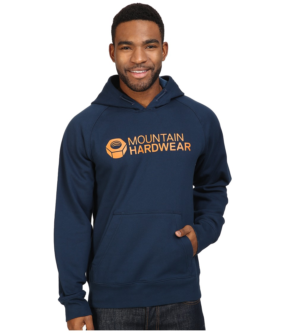 Mountain Hardwear - Logo Graphic Pullover Hoodie (Hardwear Navy/Dark Copper) Men's Sweatshirt