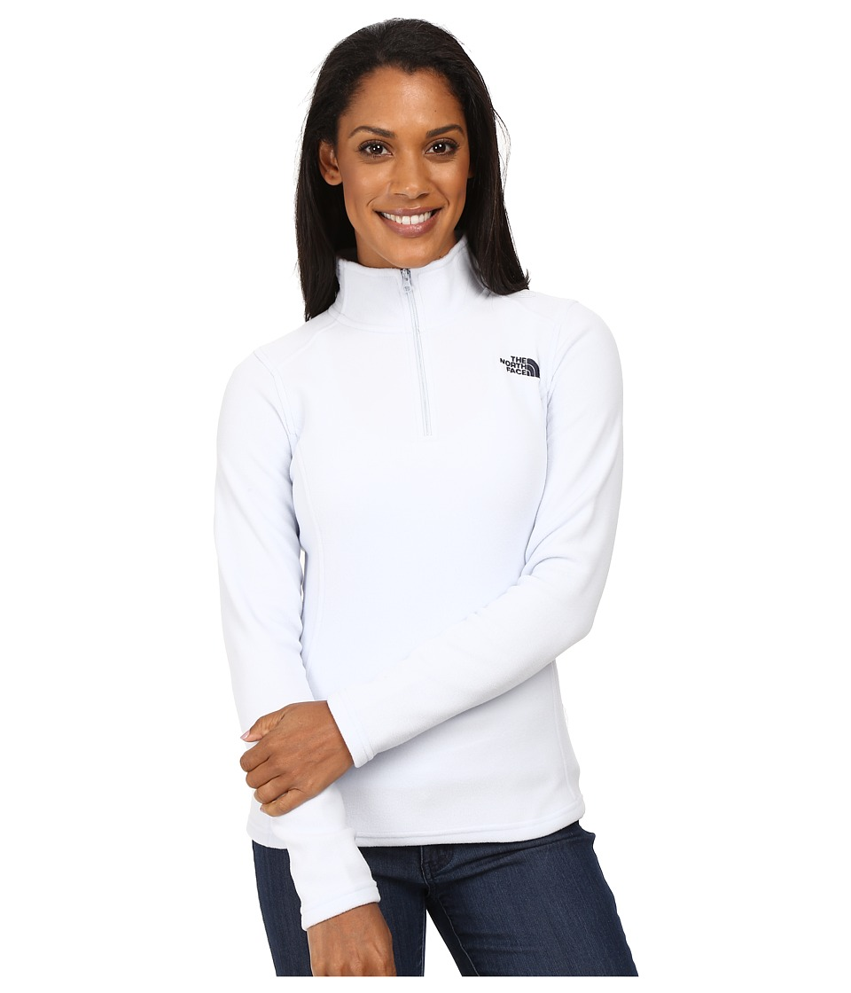 The North Face - Glacier 1/4 Zip Fleece Top (Arctic Ice Blue) Women's Fleece