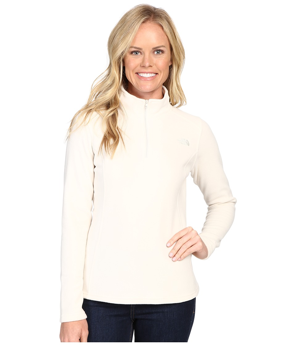 The North Face - Glacier 1/4 Zip Fleece Top (Vintage White) Women's Fleece
