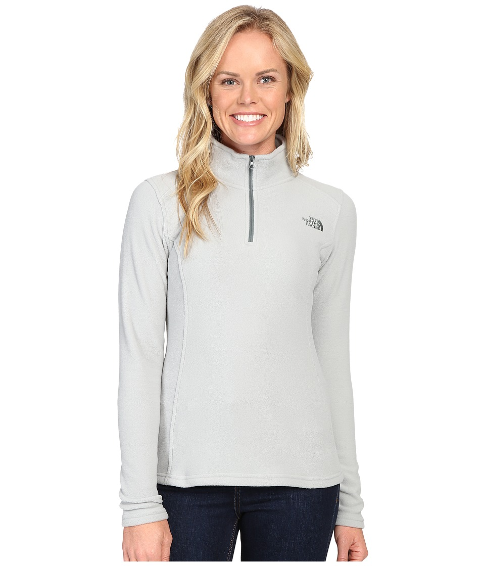 The North Face - Glacier 1/4 Zip Fleece Top (Wrought Iron) Women's Fleece