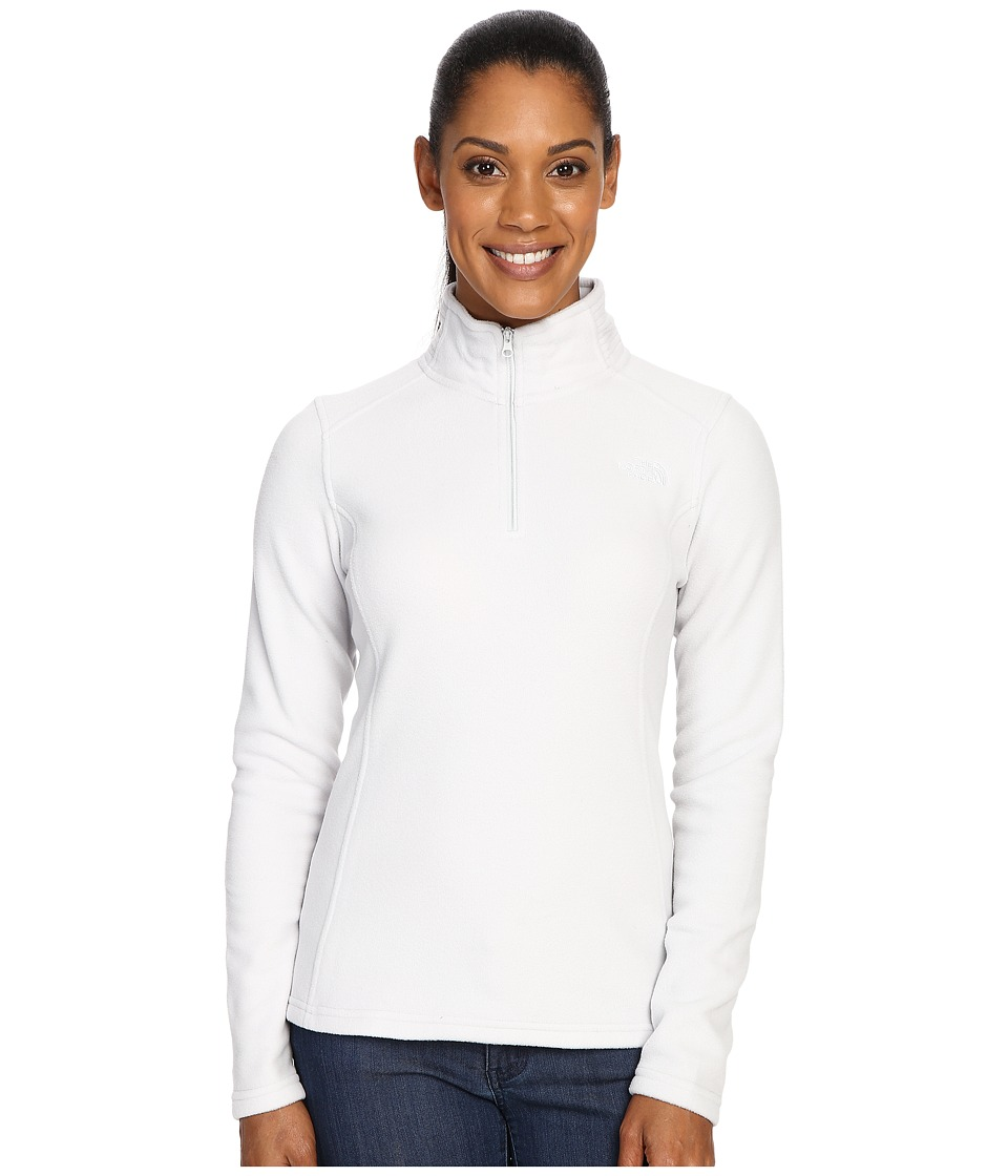 The North Face - Glacier 1/4 Zip Fleece Top (Lunar Ice Grey) Women's Fleece