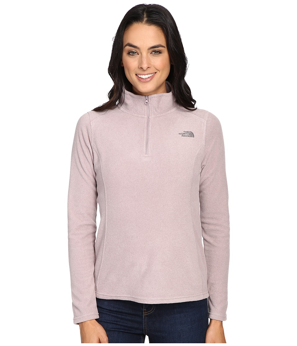 The North Face - Glacier 1/4 Zip Fleece Top (Quail Grey Heather) Women's Fleece