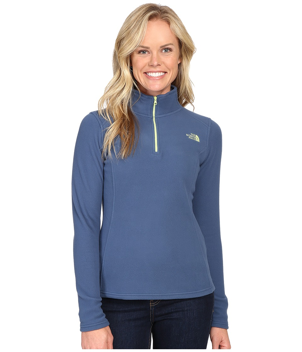 The North Face - Glacier 1/4 Zip Fleece Top (Shady Blue) Women's Fleece