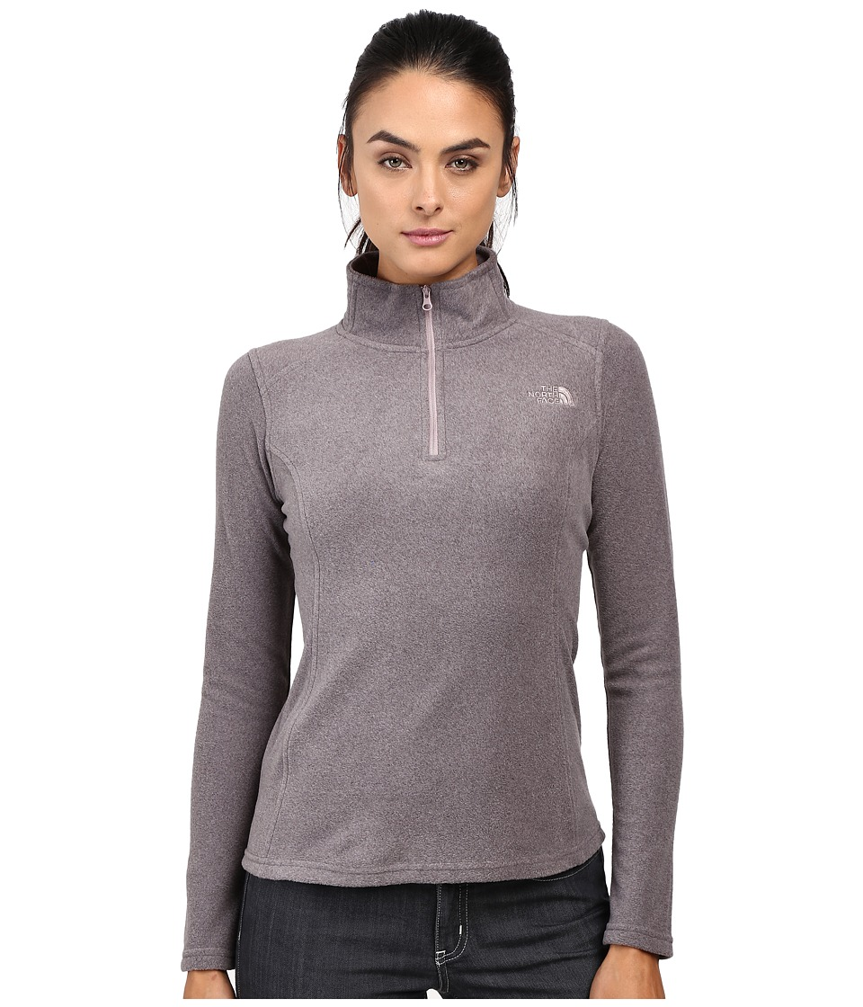 The North Face - Glacier 1/4 Zip Fleece Top (Rabbit Grey Heather) Women's Fleece
