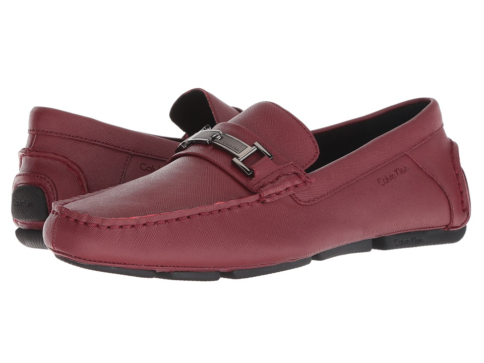 Calvin Klein - Magnus (Red Weave Emboss) Men's Shoes