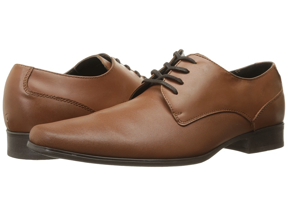 Calvin Klein - Brodie (British Tan Emboss Leather) Men's Lace up casual Shoes