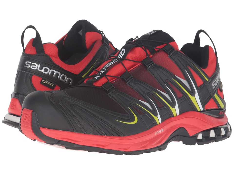 Salomon - XA Pro 3D GTX (Radiant Red/Black/Gecko Green) Men's Shoes