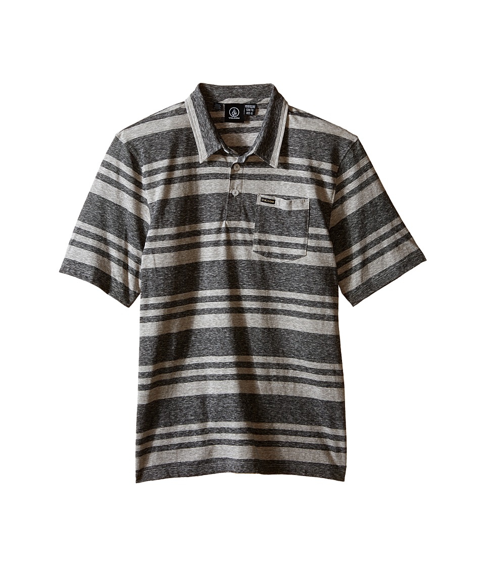 Volcom Kids - Freemont Polo (Big Kids) (Heather Grey) Boy's Short Sleeve Knit