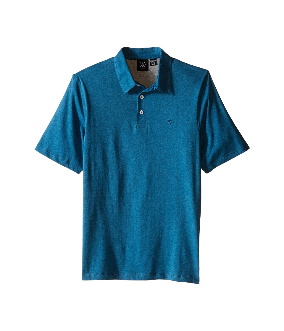 Volcom Kids - Wowzer Polo (Big Kids) (Sun Faded Indigo) Boy's Short Sleeve Pullover