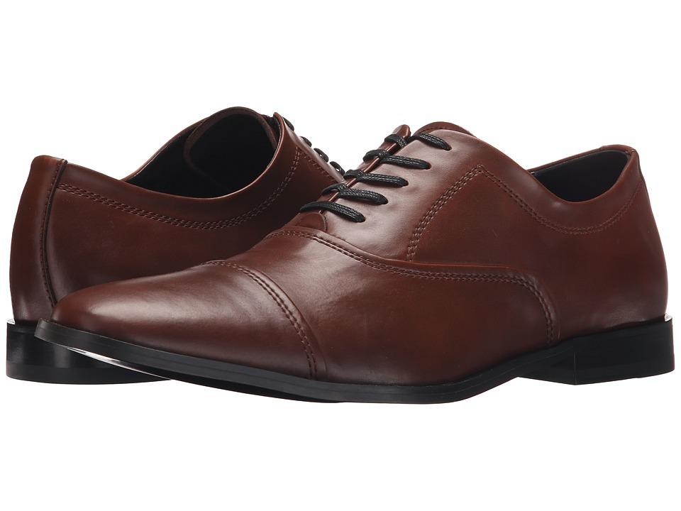 Calvin Klein - Nino (British Tan Leather) Men's Plain Toe Shoes
