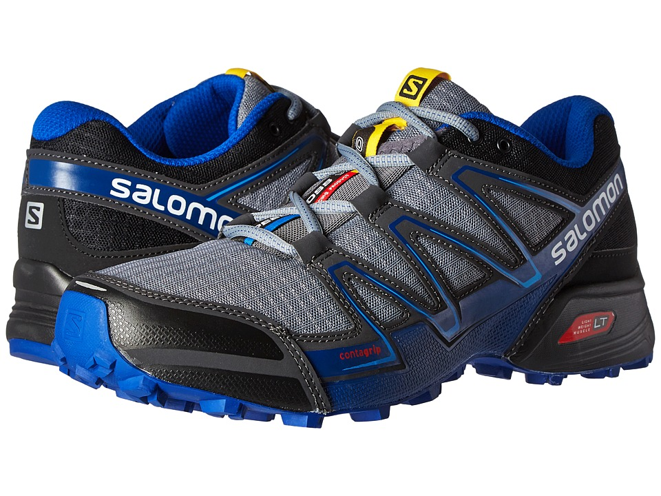 Salomon - Speedcross Vario (Pearl Grey/Black/Bright Blue) Men's Shoes